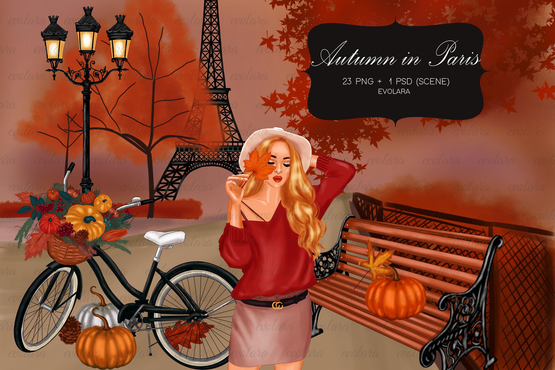 Autumn Clipart Winter Clipart Paris Clipart Winter Fashion Clipart