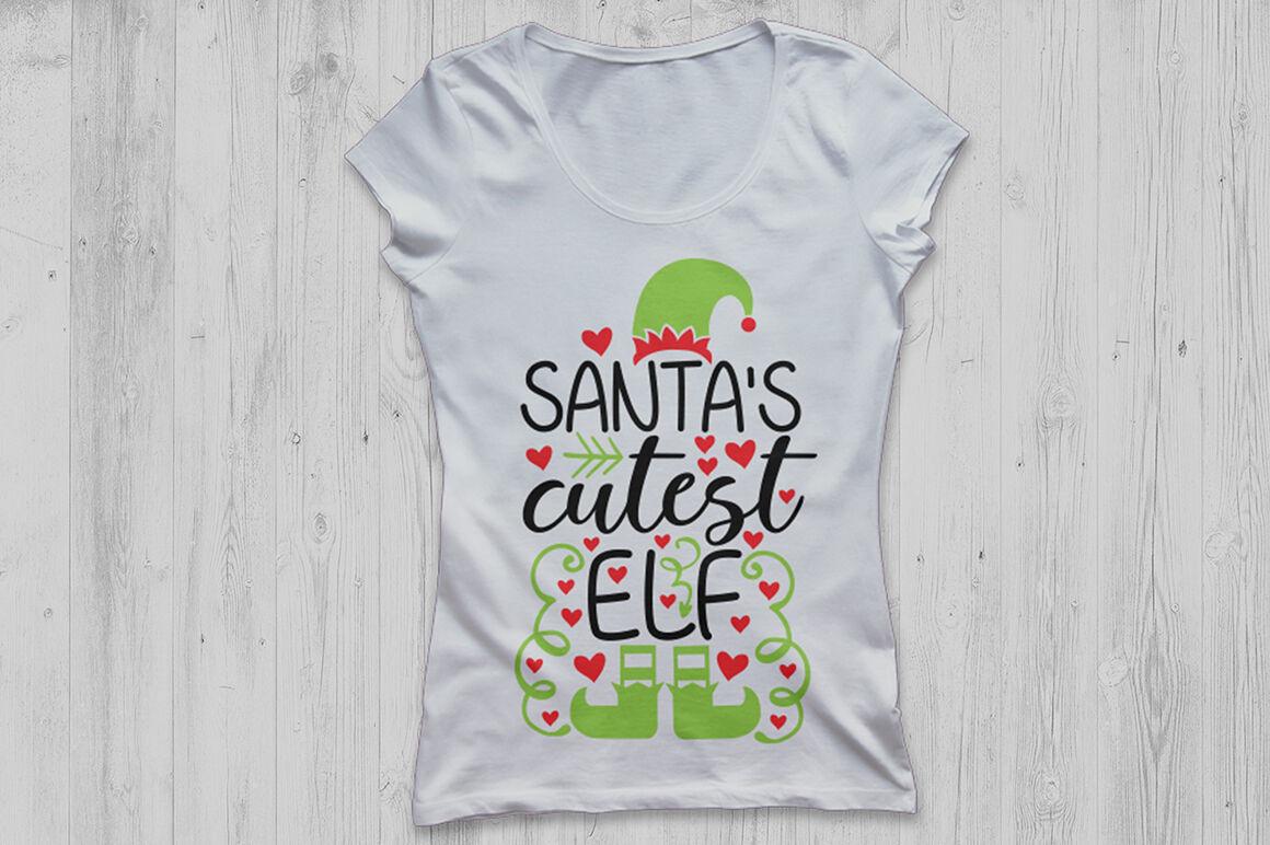 Santa S Cutest Elf Svg Christmas Svg Santa Svg Elf Svg Holiday
