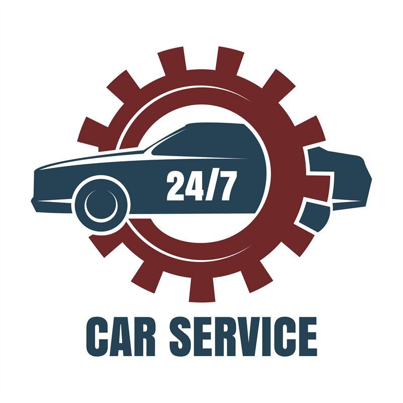 Car repair service logo By vectortatu | TheHungryJPEG.com