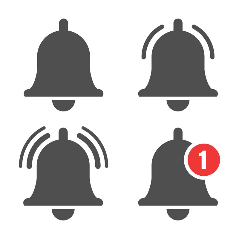 Message Bell Icon By Vectortatu Thehungryjpeg Com