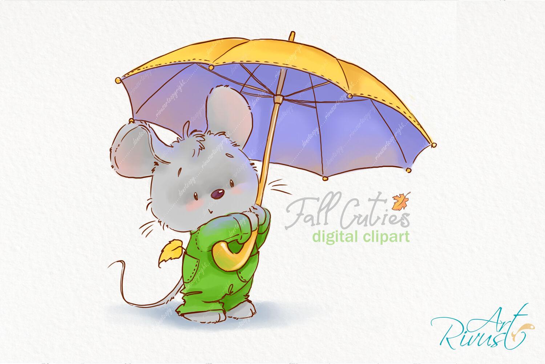 Fall clipart. Cute mouse clip art. Little mouse ...