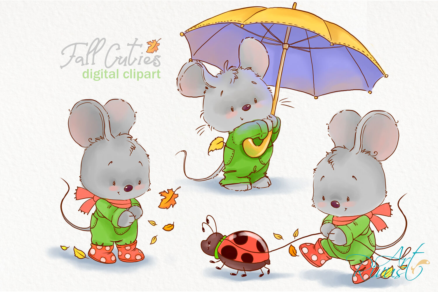 Art little. Fall clipart cute mouse