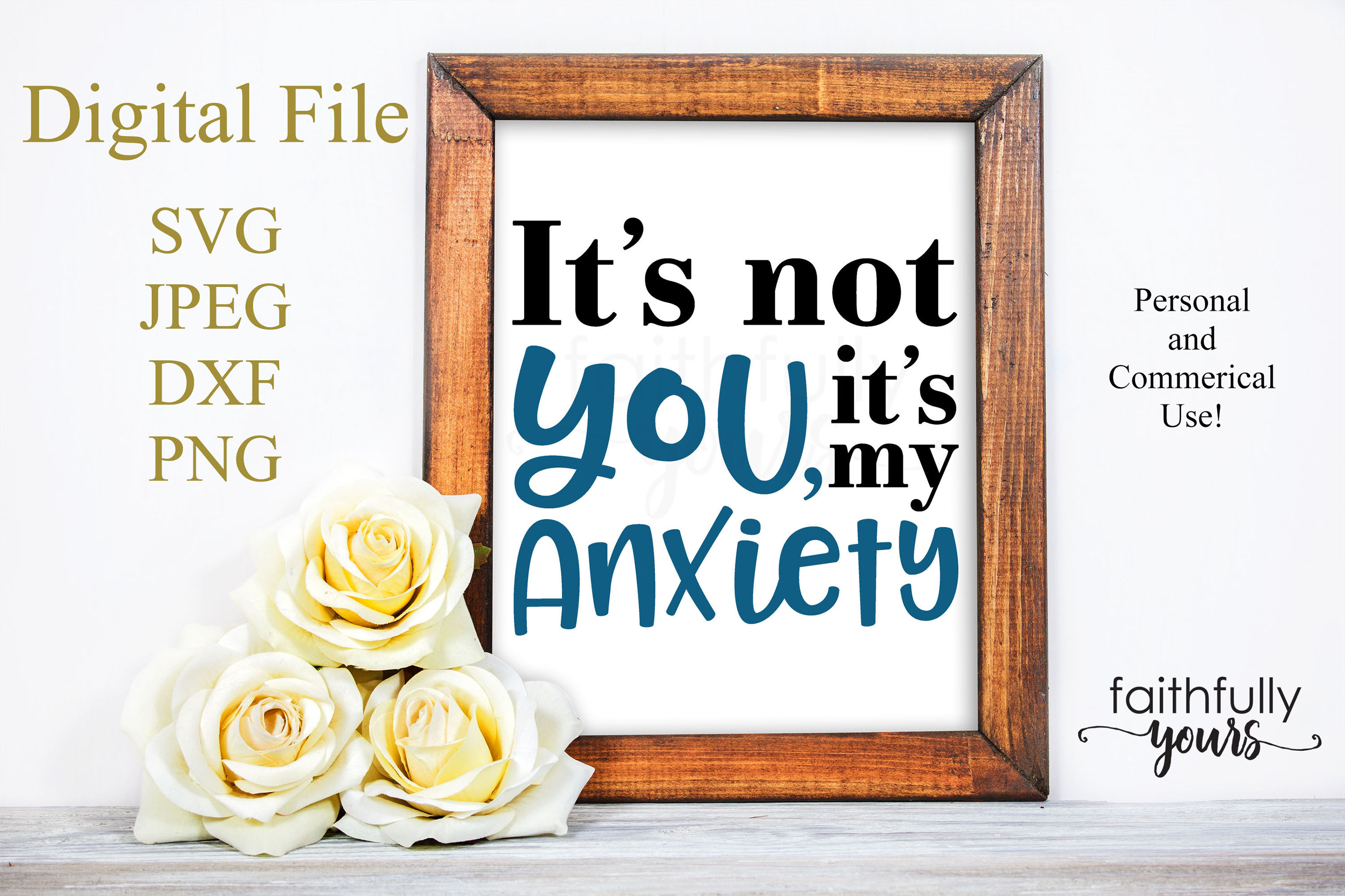 It S Not You It S My Anxiety Sarcastic Homebody Hates Crowds Svg