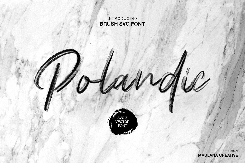 Polandic Svg Brush Font By Maulana Creative Thehungryjpeg Com
