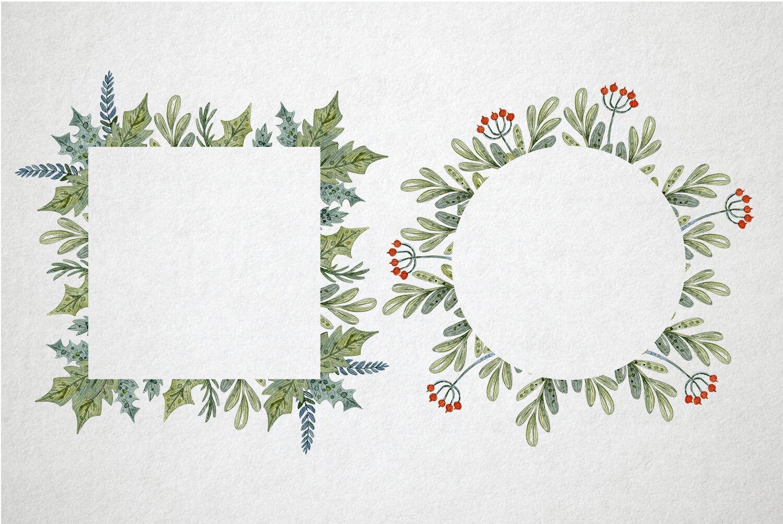Christmas Watercolor Set By By Anna Sokol Thehungryjpeg Com