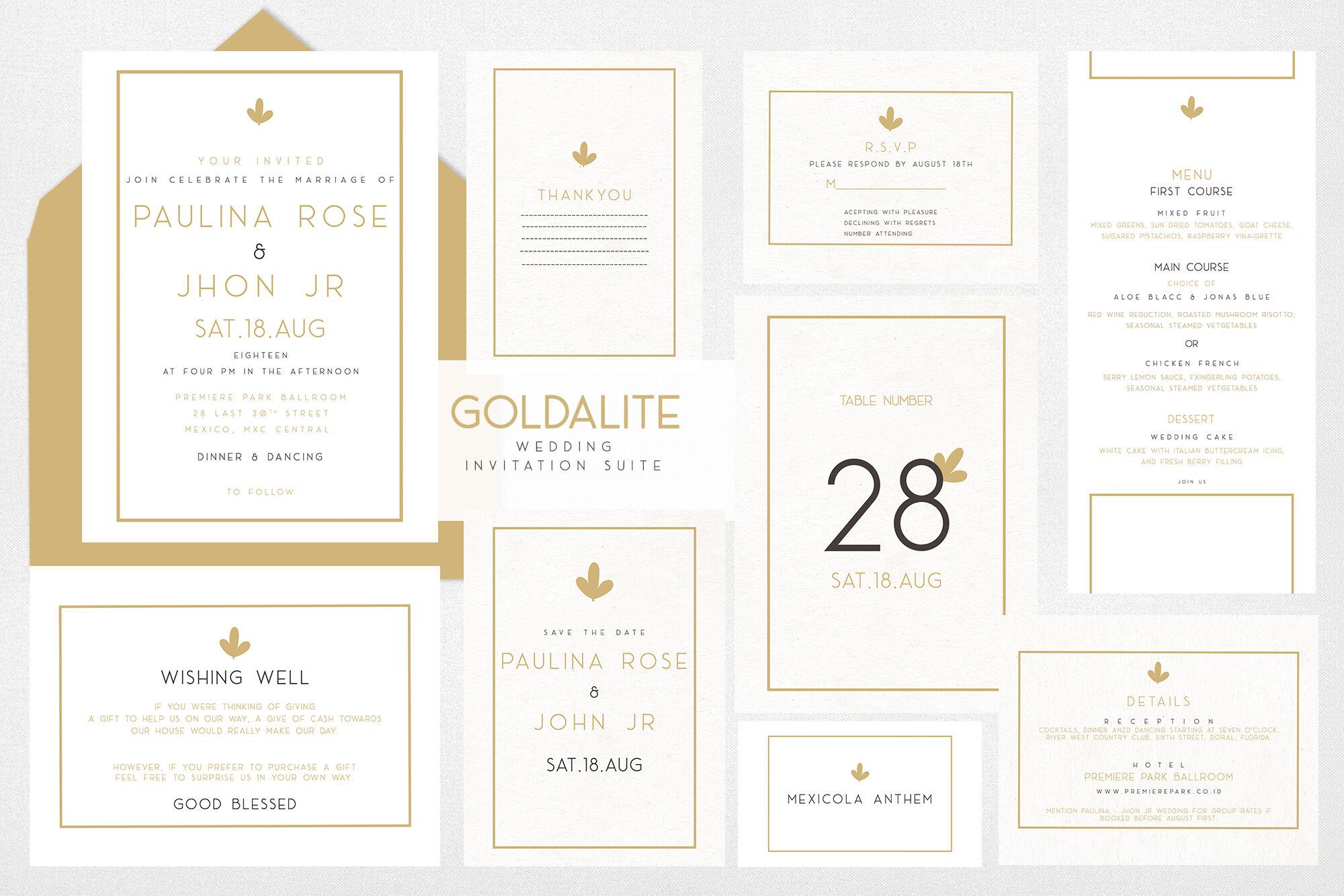 Goldalite Premium Wedding Invitation By Vavadharahap