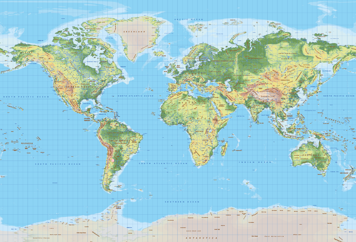 Topographic World Vector Map By Cartorical Thehungryjpeg Com