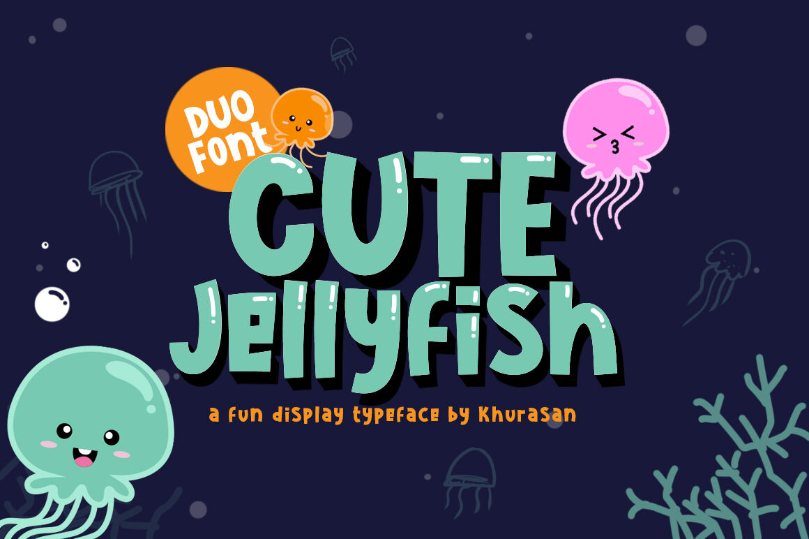 Cute Jellyfish By Khurasan Thehungryjpeg Com