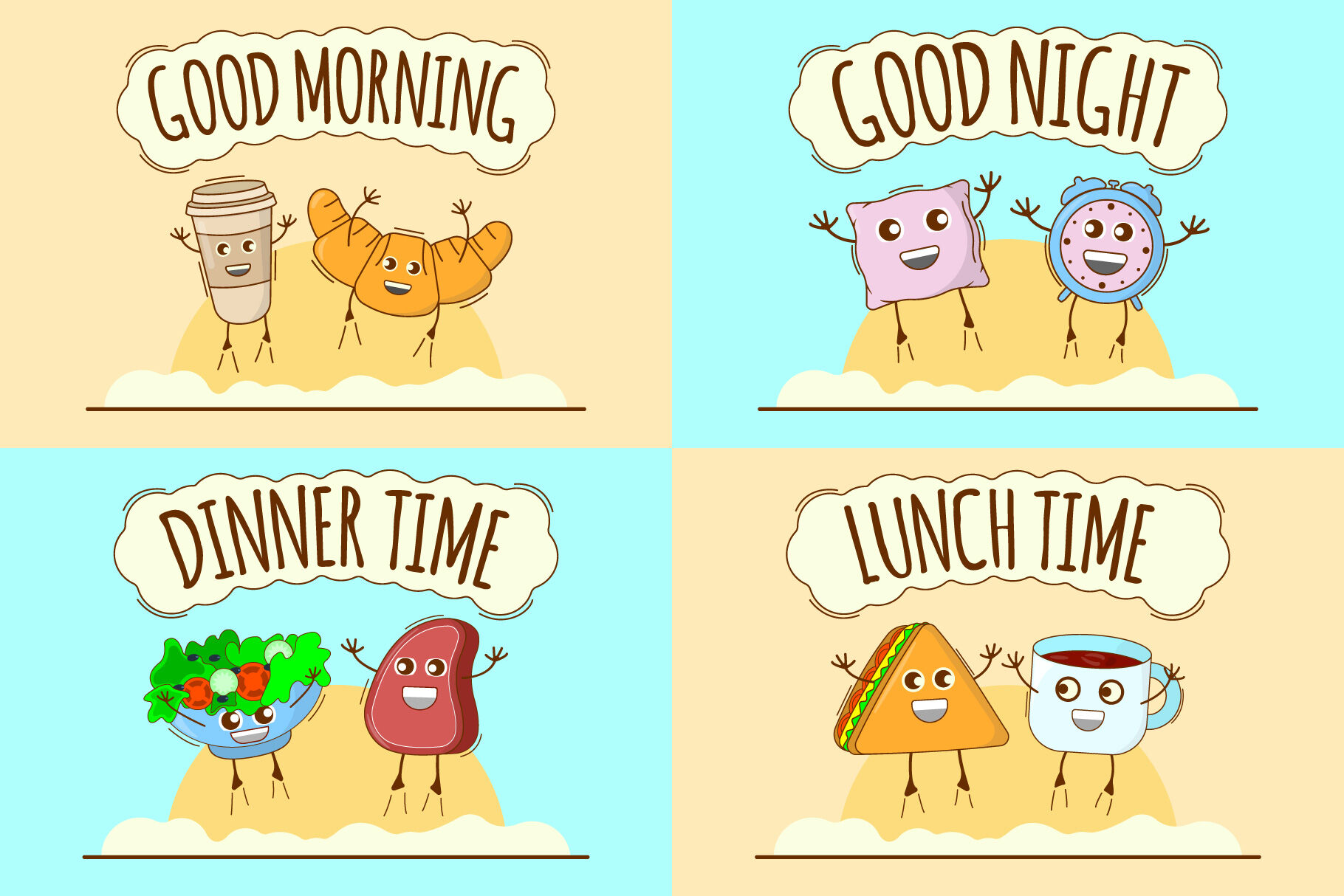Daily Routine Banners By Apvaper S Shop Thehungryjpeg Com