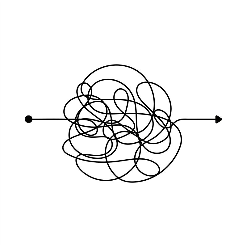Insane messy line. Complicated clew way. Tangled scribble vector path By  Microvector | TheHungryJPEG.com