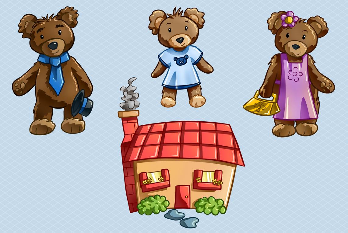 Goldilocks and the Three Bears Clip Art {By Busy Bee Clip Art} by Sarah  Warner