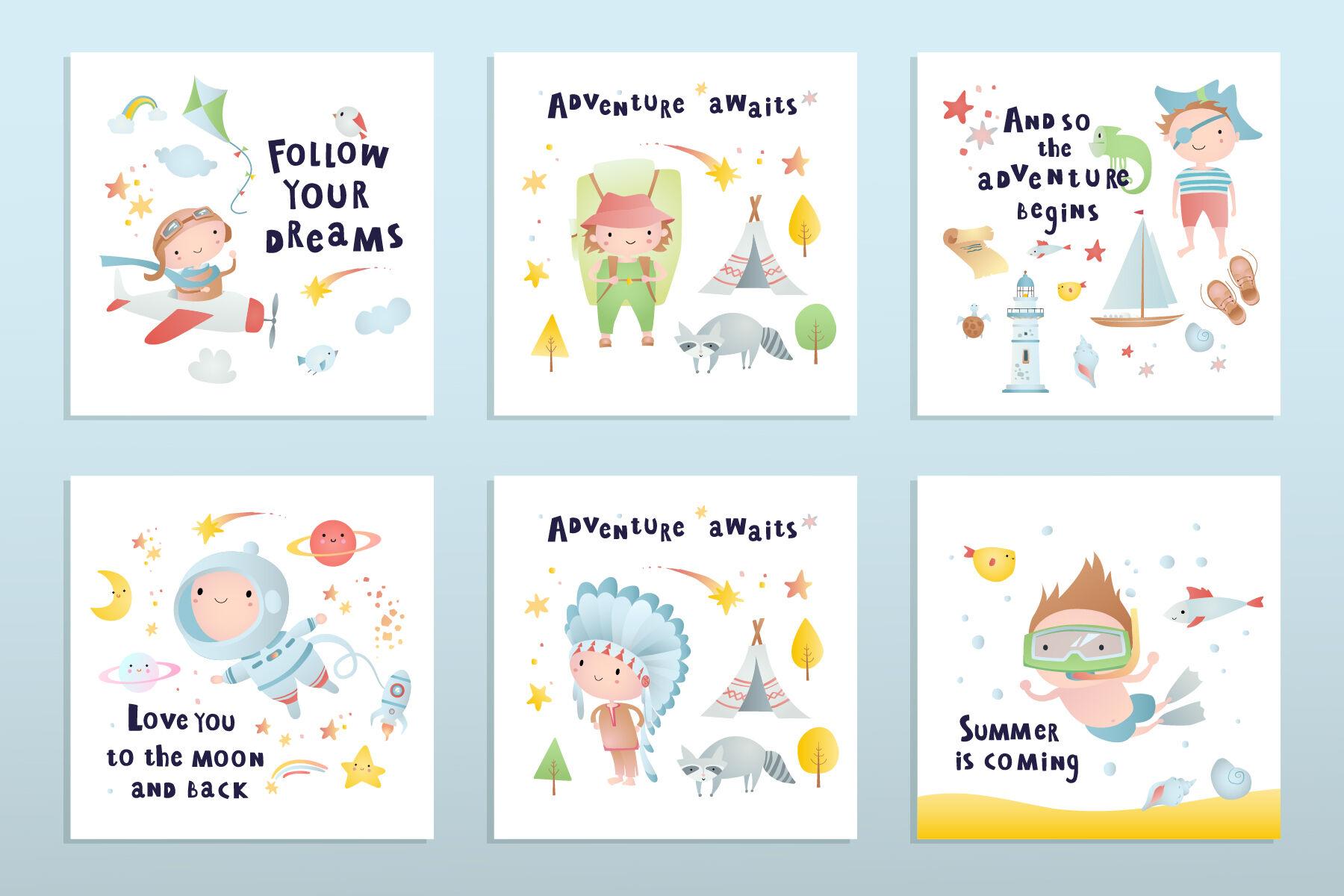 Funny Children Adventure Time By Anastasiya Kostenko