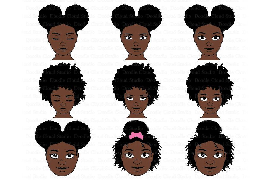 Afro Girl Svg Bundle Afro Woman Svg Black Woman Natural Hair