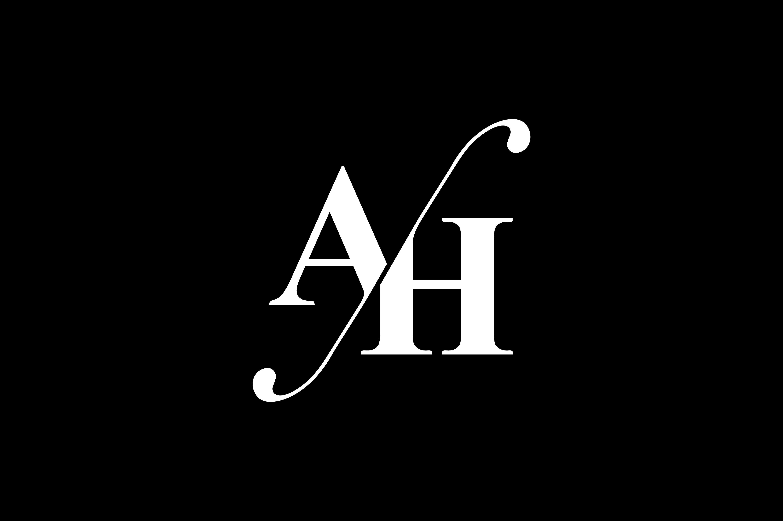 Ah Monogram Logo Design By Vectorseller Thehungryjpeg Com