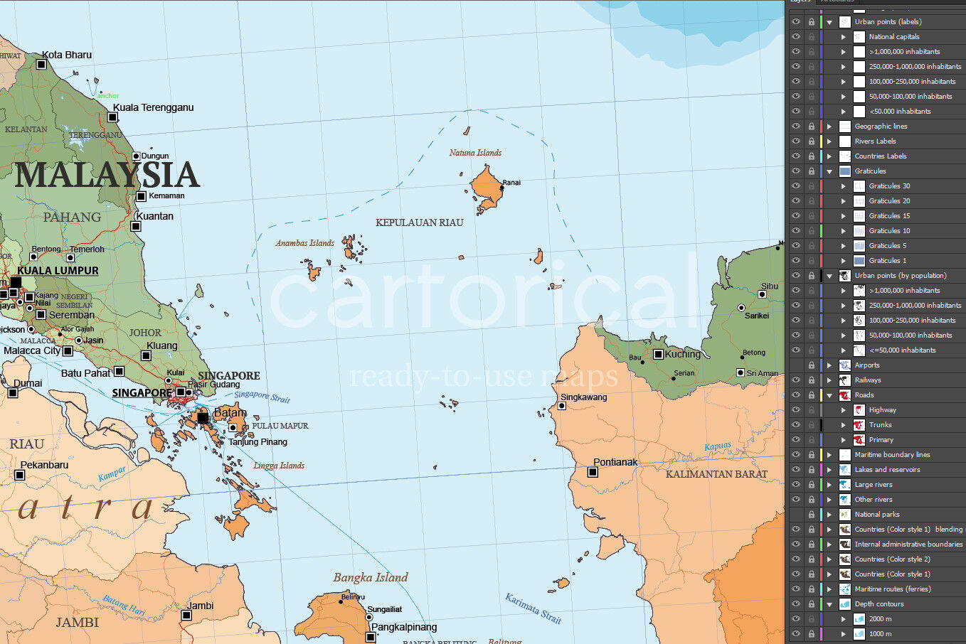 Political Map Of South East Asia By Cartorical Thehungryjpeg Com