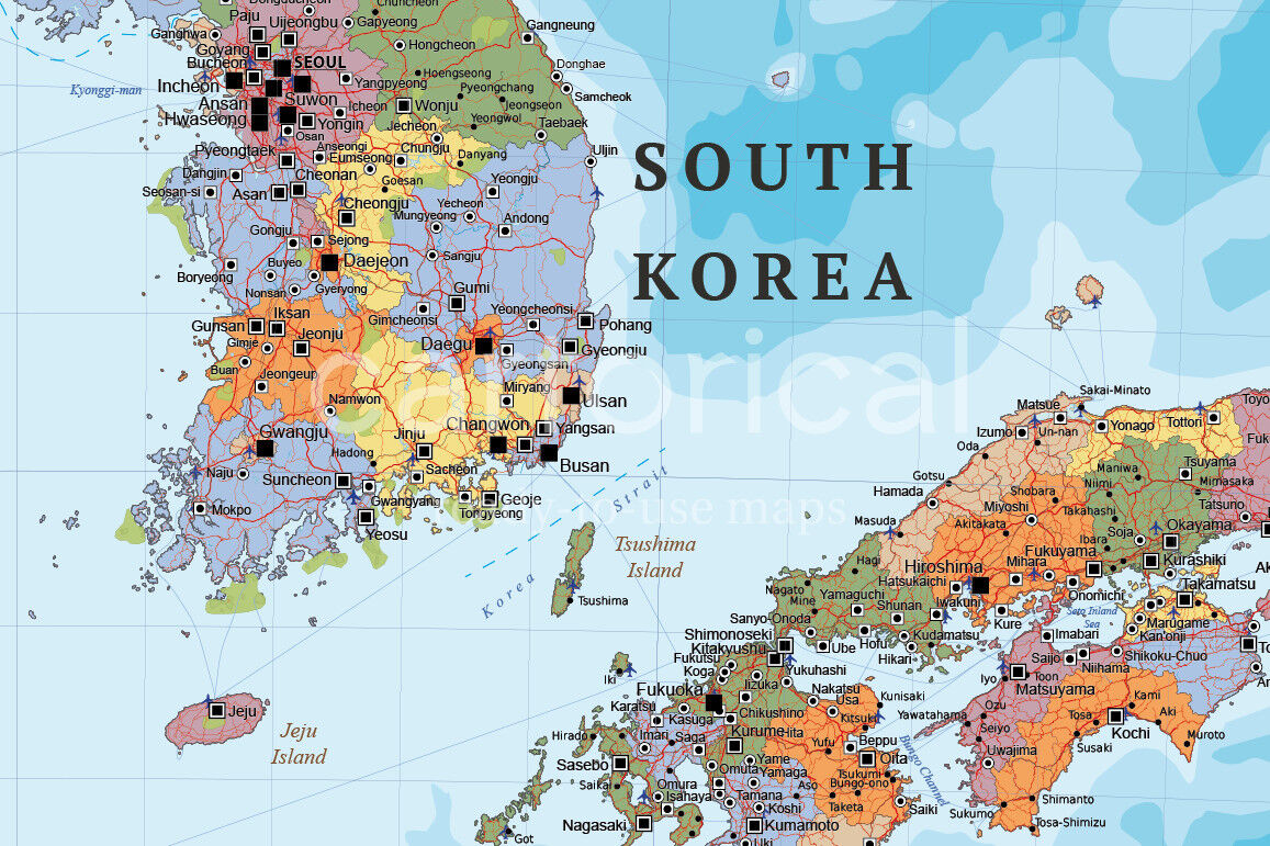 Political Map Of Asia East Asia By Cartorical Thehungryjpeg Com