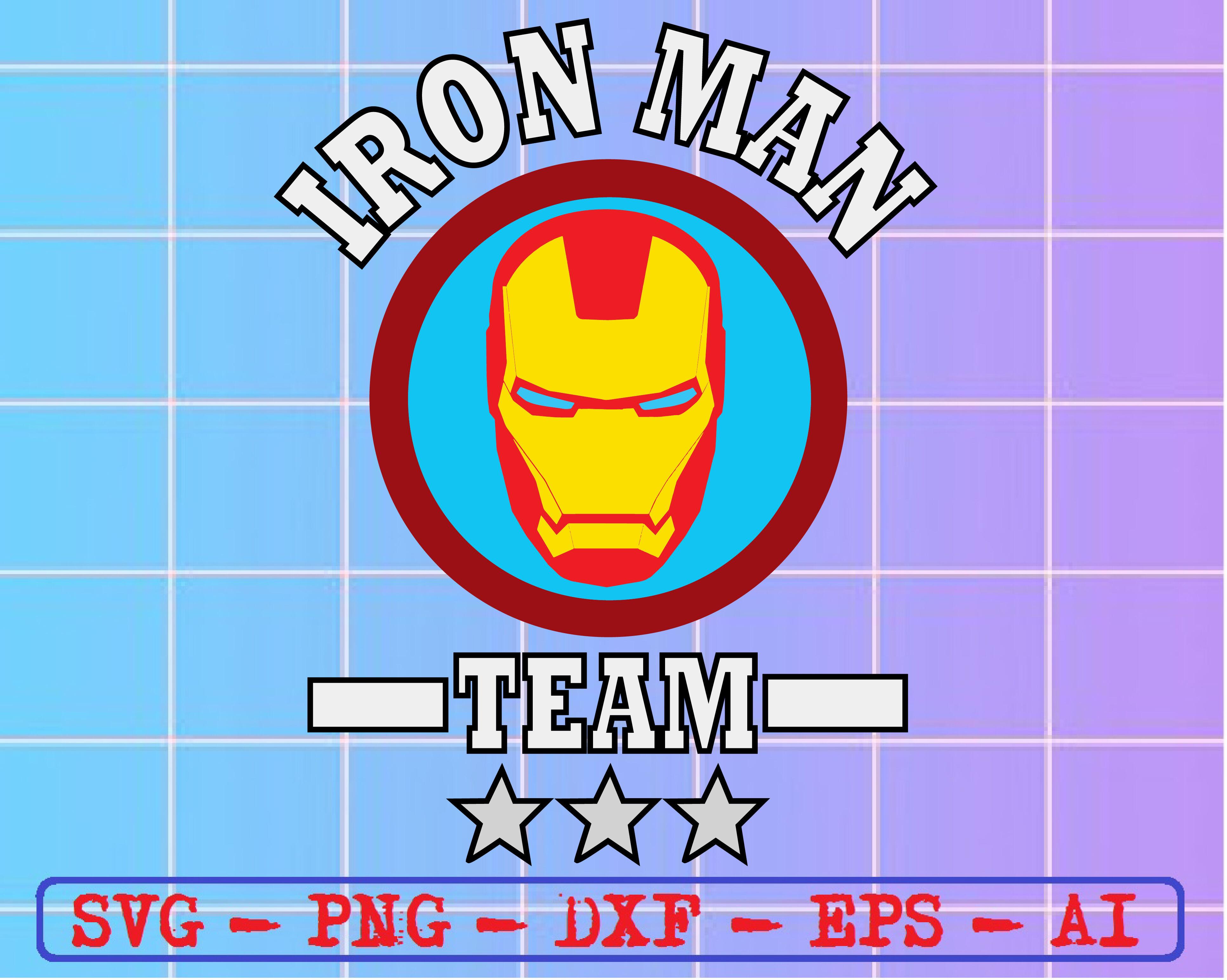 Iron Man Team Svg Dxf Eps Png Digital Download By Svgkiak