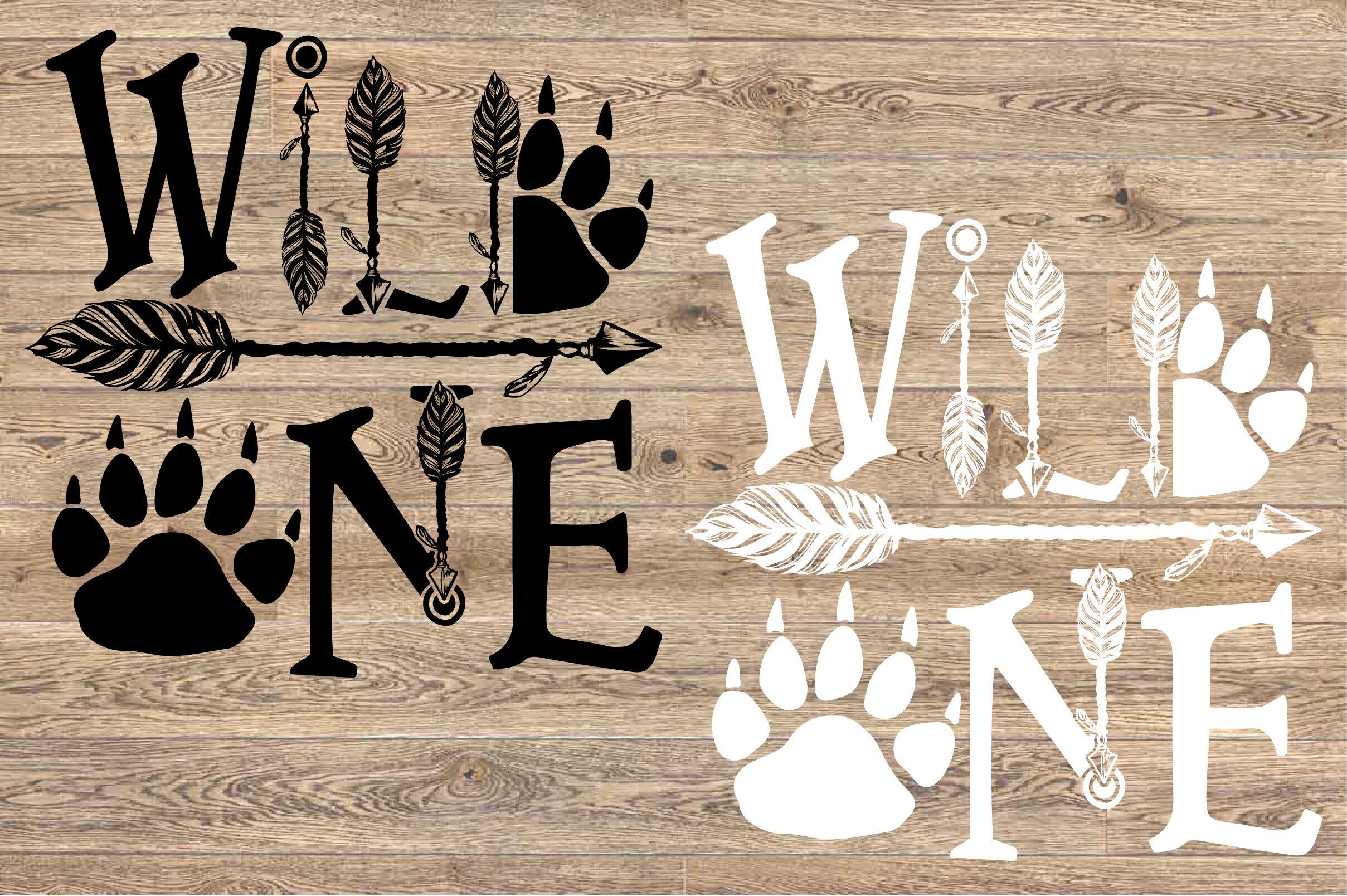 Wild One Birthday SVG Bear Paw Arrow Stay baby onesie ...