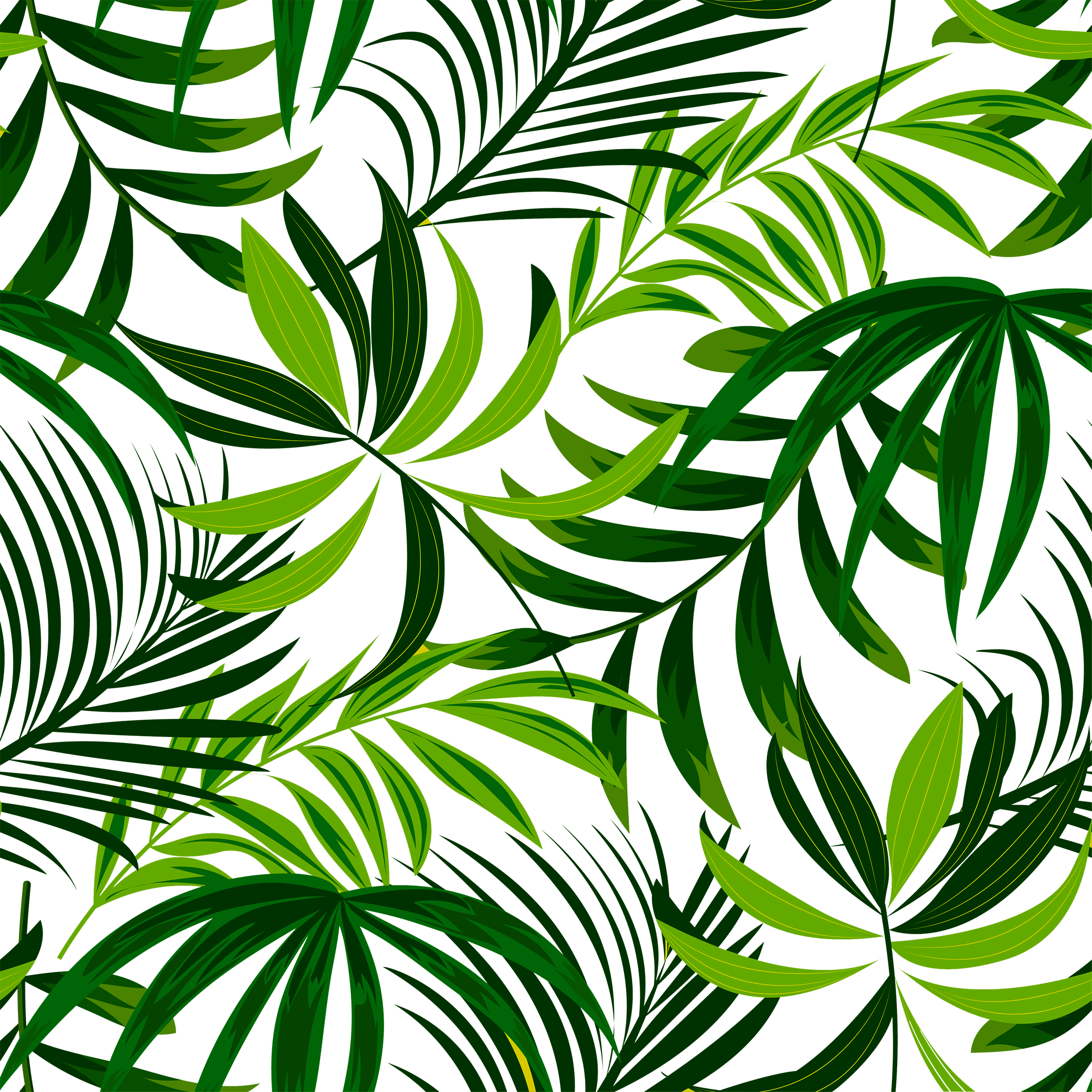 PNG Tropical Leaves Digital Paper By artistic ...