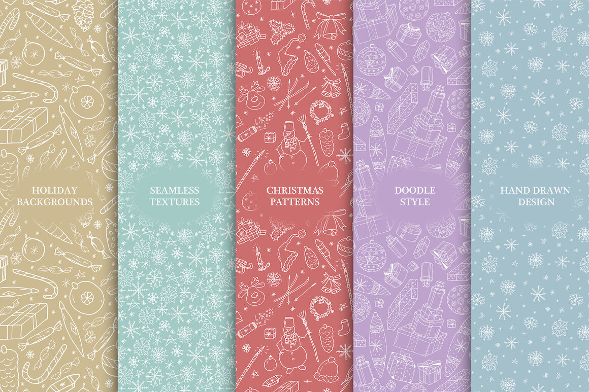 Christmas Seamless Color Backgrounds By Expressshop