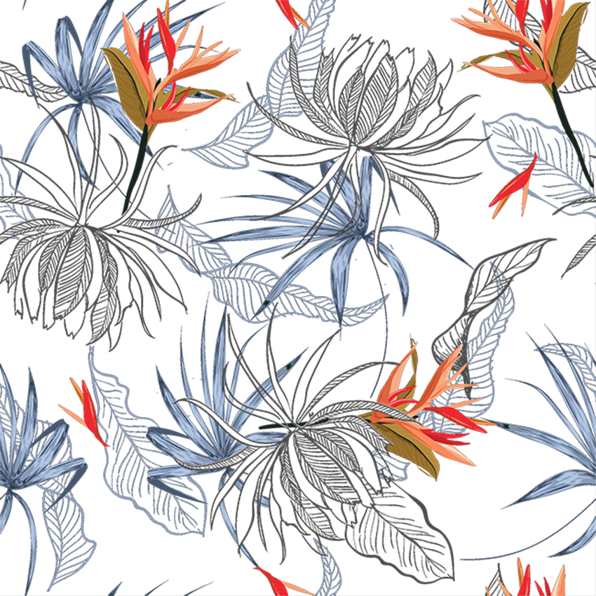 Christmas Png Tropical Flowers Digital Paper By Artistic