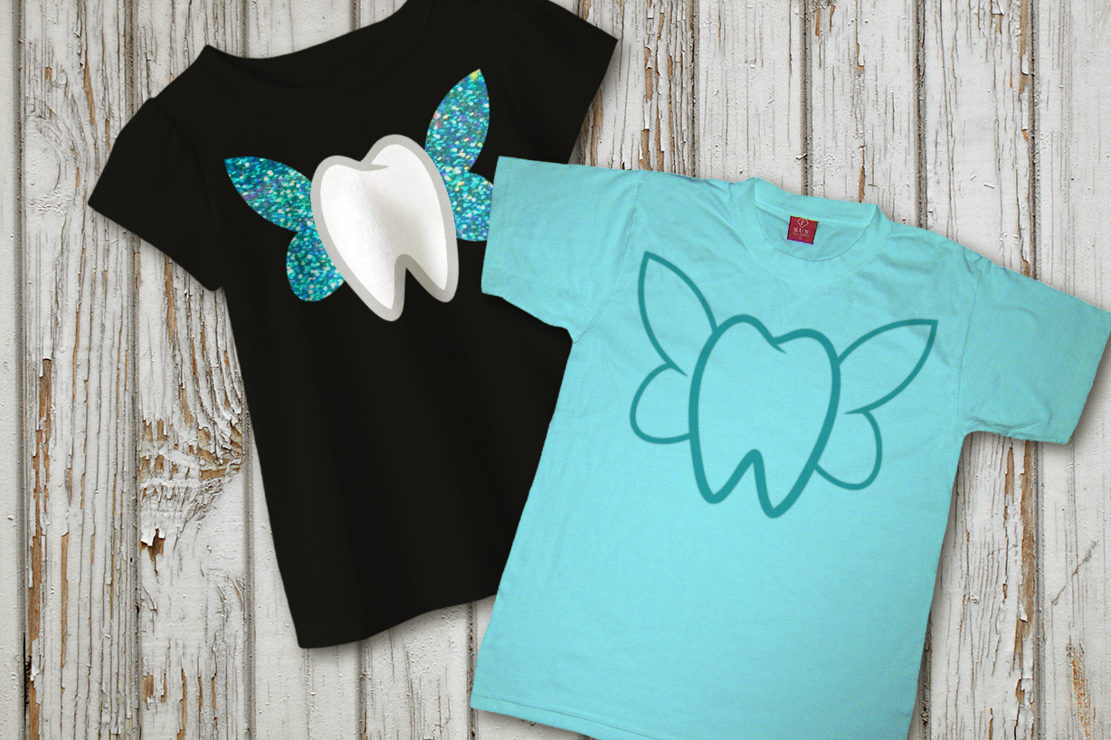 Tooth With Fairy Wings Svg Png Dxf By Designed By Geeks