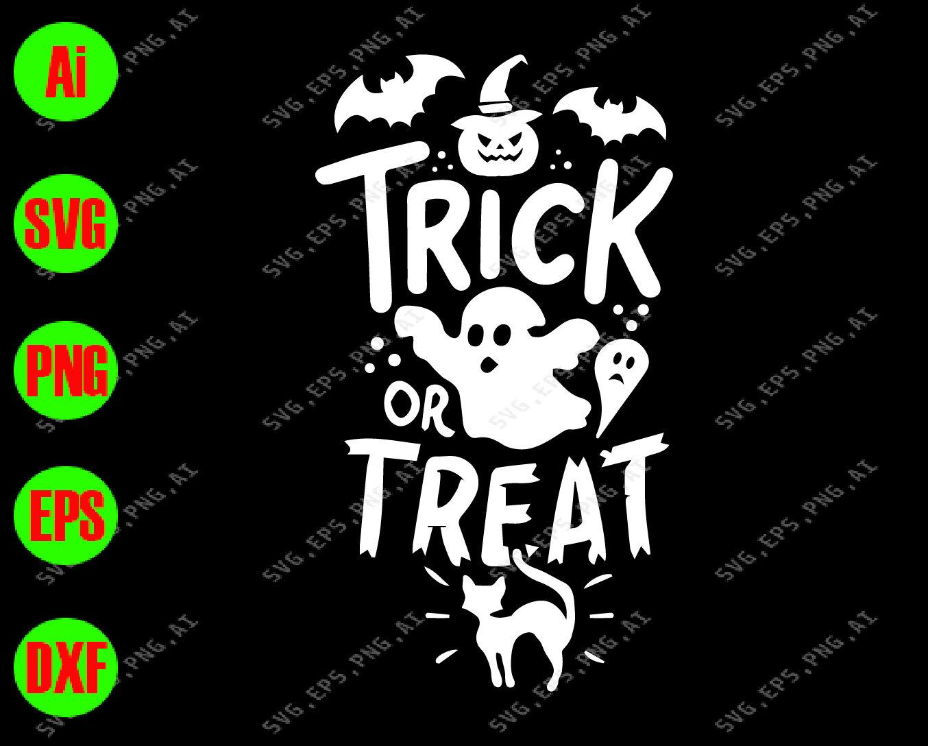 Trick Or Treat Svg Dxf Eps Png Digital Download By Svgkiak