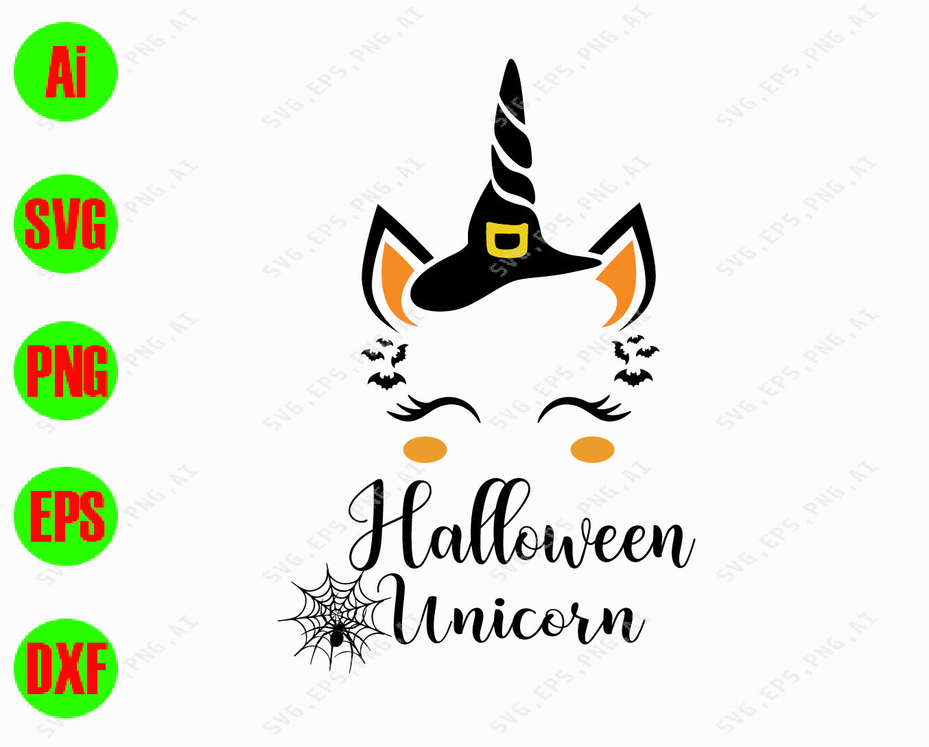 Halloween unicorn svg, dxf,eps,png, Digital Download By ...