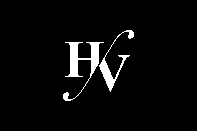 Hv Monogram Logo Design By Vectorseller Thehungryjpeg Com