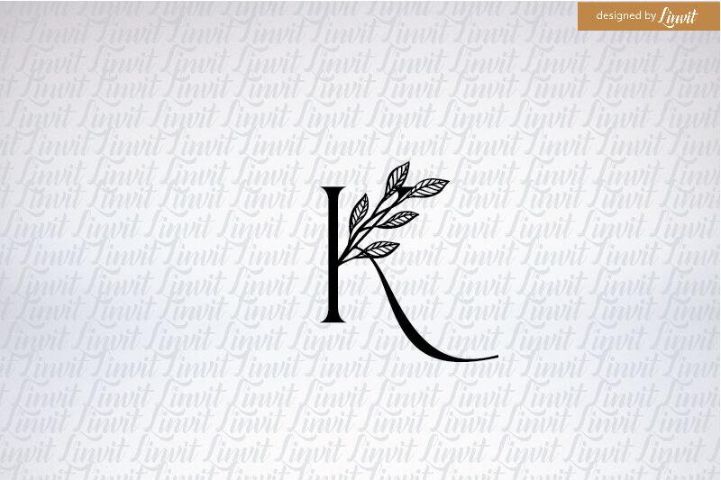 K Font K Letter K Initial Custom K Logo K Monogram By