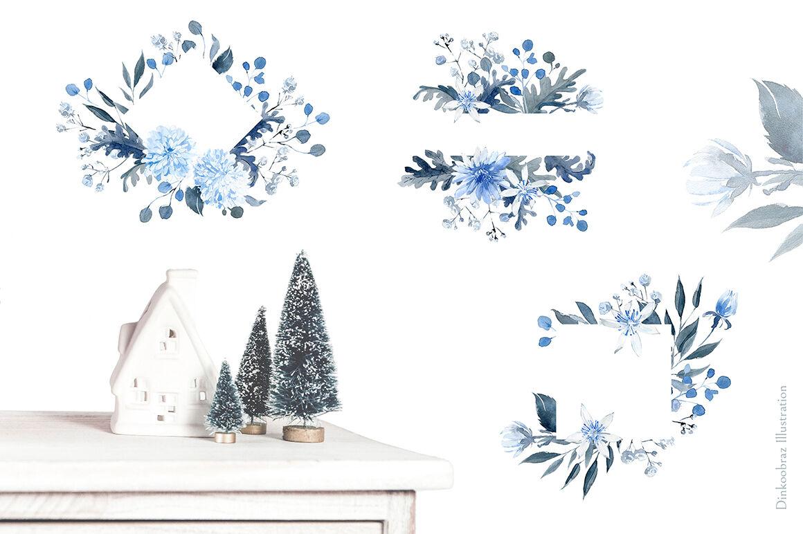 Snow Mice Winter Clipart Set By Dinkoobraz Illustration
