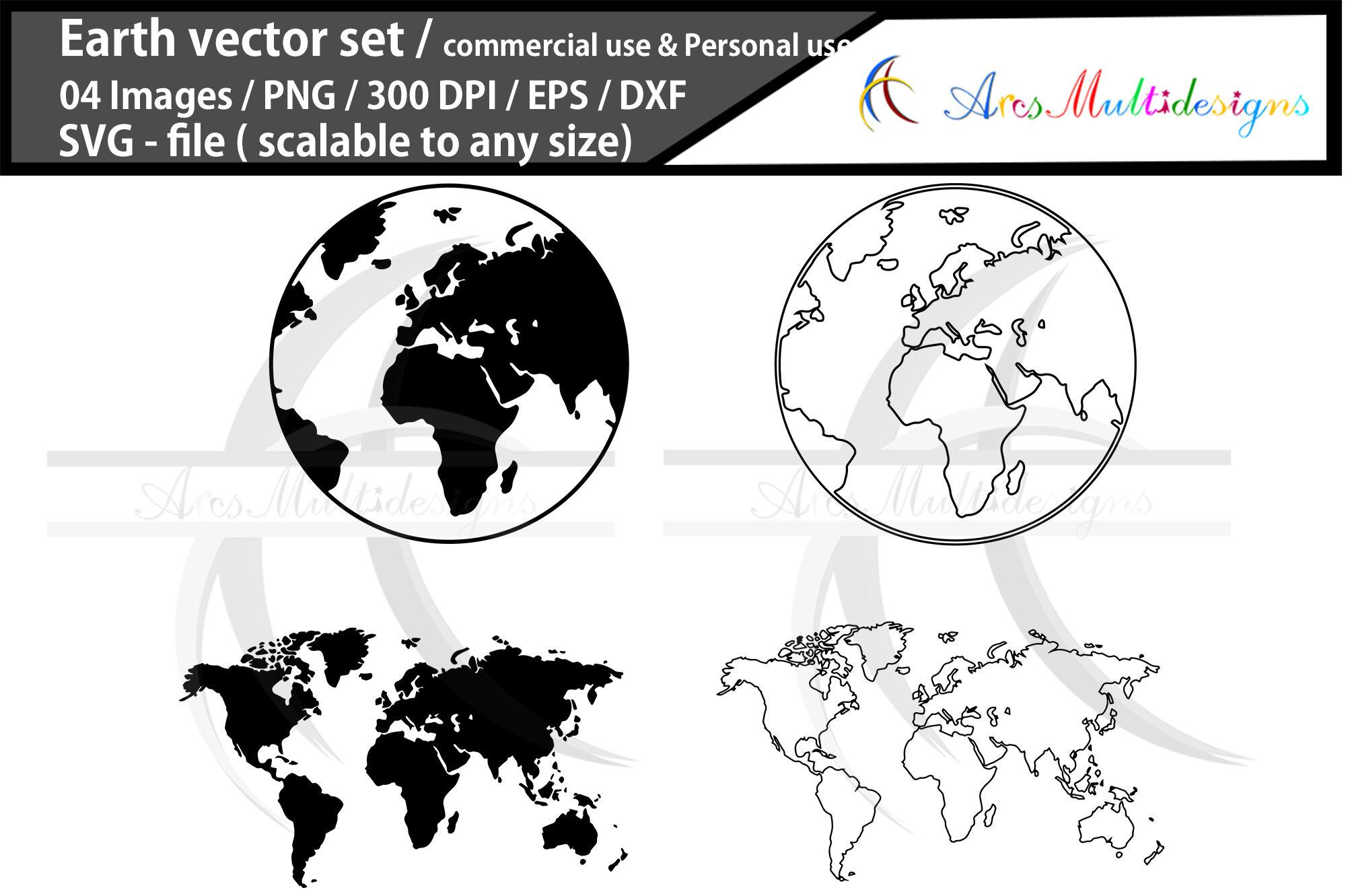 Earth Map Svg Globe Svg Map By Arcsmultidesignsshop
