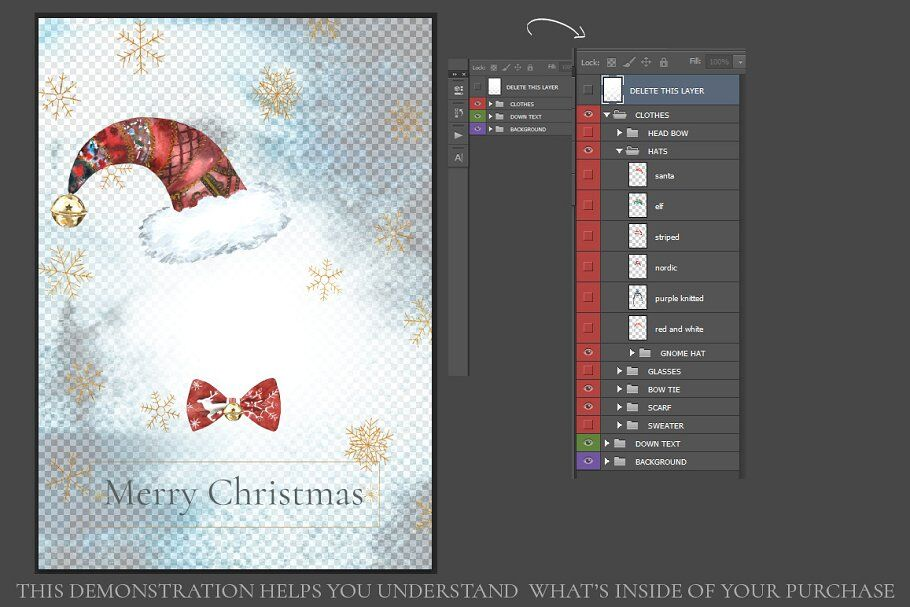 Christmas Clothes Winter Clipart By Catherine Wheel