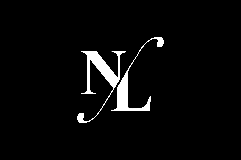 Nl Monogram Logo Design By Vectorseller Thehungryjpeg Com