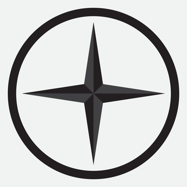 Compass Star Icon Monochrome Black White By 09910190