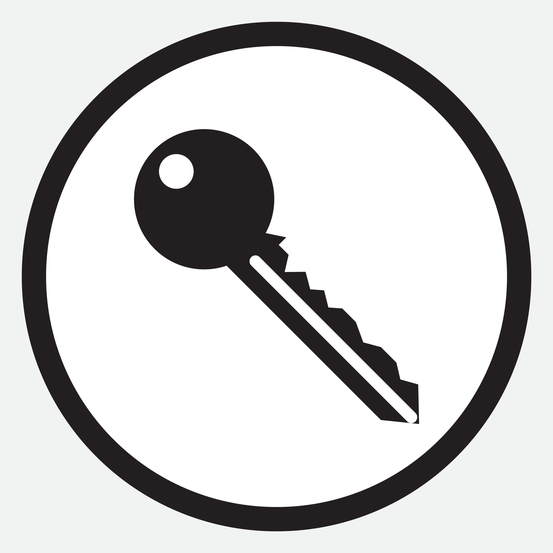 Key Icon Monochrome Black White By 09910190 Thehungryjpeg Com