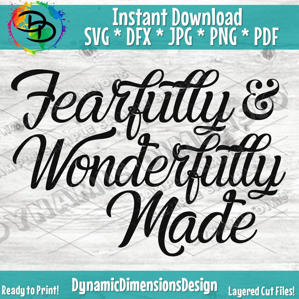Fearfully And Wonderfully Made Svg Cut File Religious Svg