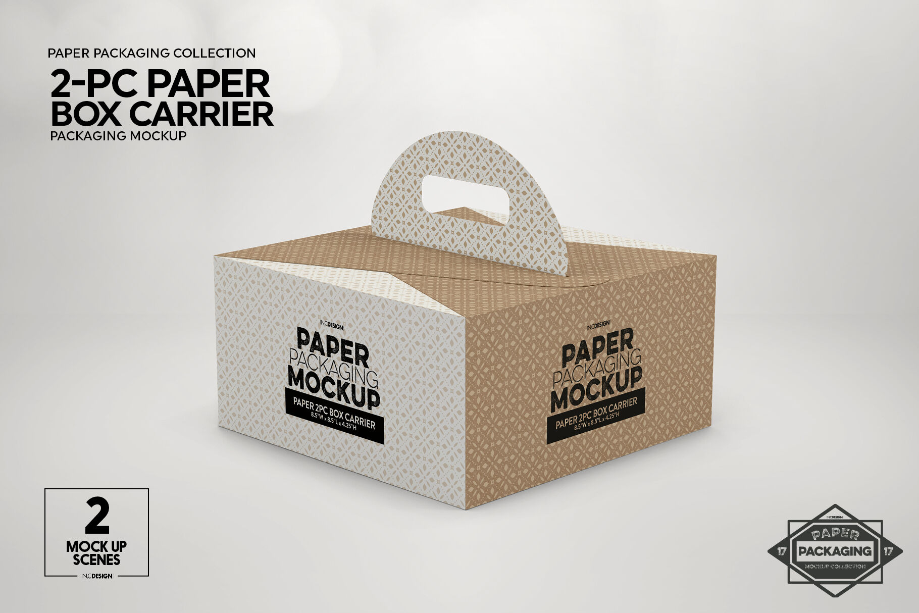Download 4 Pack Paper Carrier Mockup Yellowimages