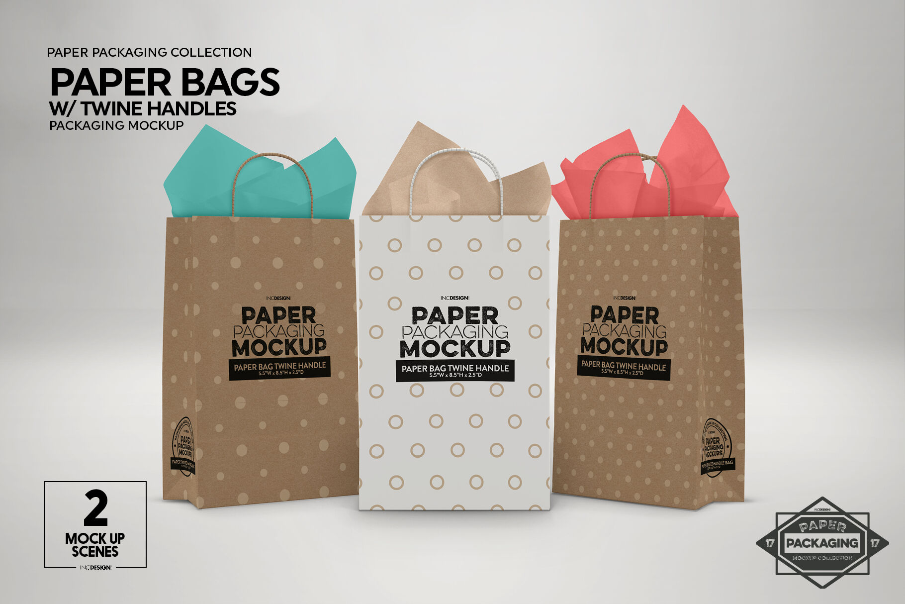 Download Paper Bag Mockup Front View Yellow Images