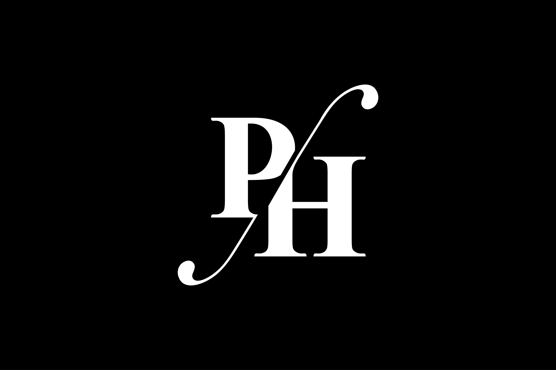 Ph Monogram Logo Design By Vectorseller Thehungryjpeg Com