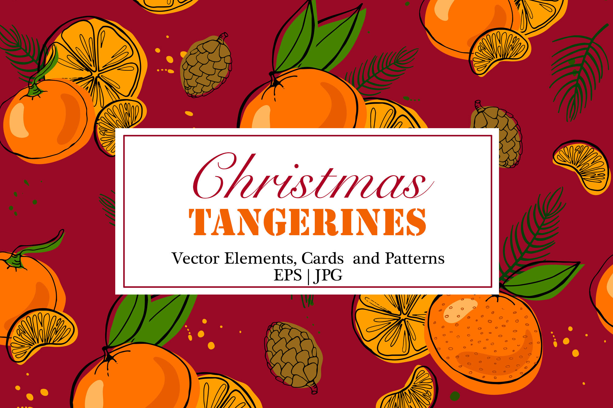 Tangerines Christmas Vector Clipart By Plants And Other