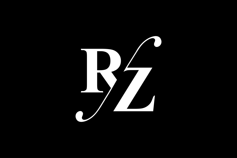 Rz Monogram Logo Design By Vectorseller Thehungryjpeg Com