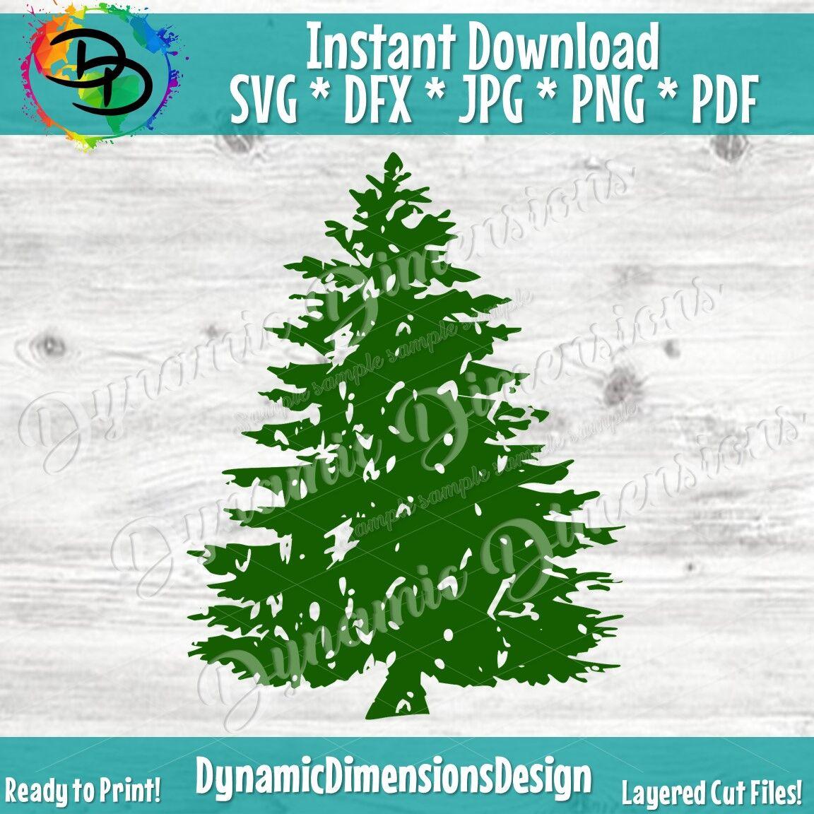 Pine Tree Svg Christmas Tree Svg Distressed Svg Tree Svg Pine