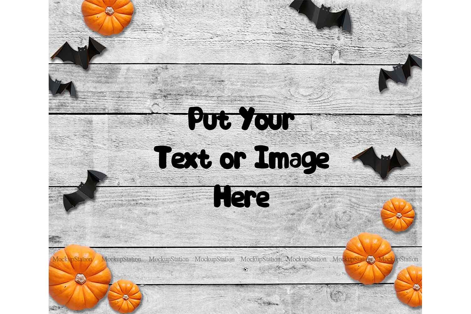Halloween Background Fall Wood Digital Backdrop Scene Stock