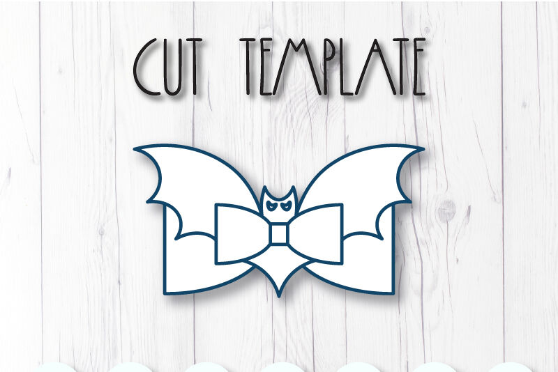 Bat Hair Bow Template Svg Dxf Pdf With Diy Tutorial By