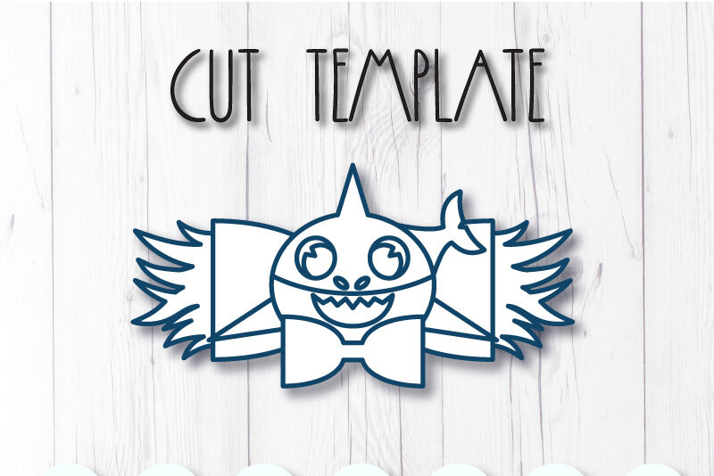 Shark Hair Bow Template Svg Dxf Pdf With Diy Tutorial By