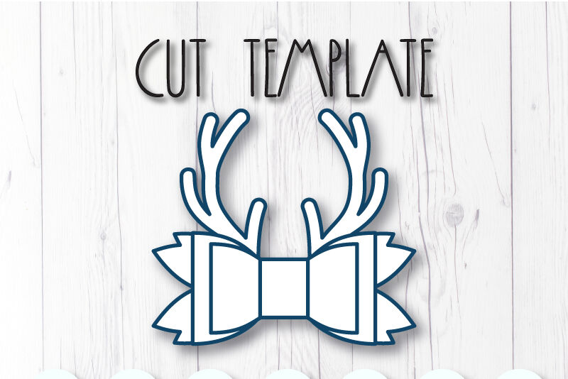 Deer Antlers Hair Bow Template Svg Dxf Pdf With Diy Tutorial By