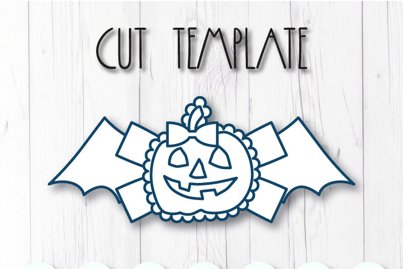 Pumpkin Hair Bow Template Svg Dxf Pdf With Diy Tutorial By