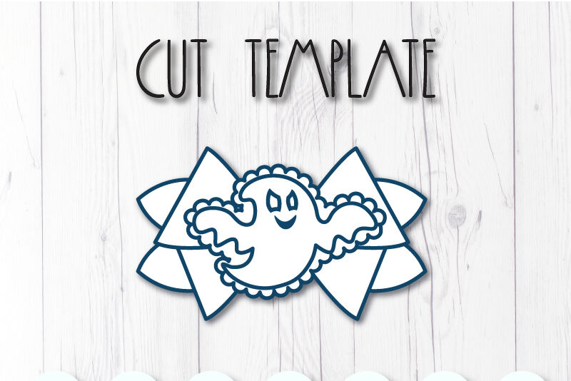 Ghost Hair Bow Template Svg Dxf Pdf With Diy Tutorial By