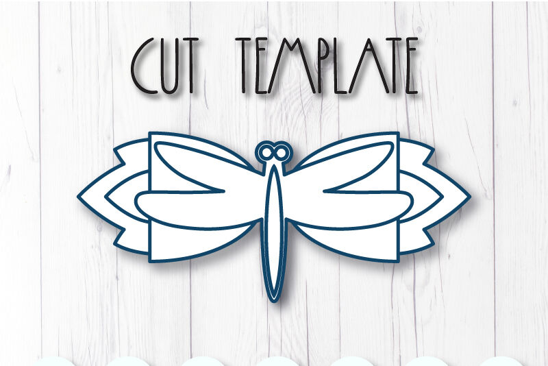 Dragonfly Hair Bow Template Svg Dxf Pdf With Diy Tutorial By
